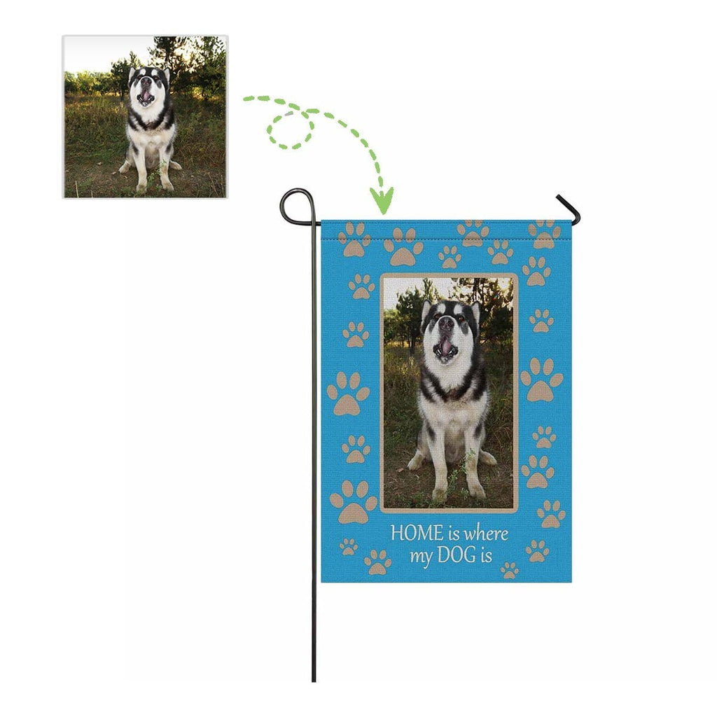 Custom Dog Photo Paw Garden Flag