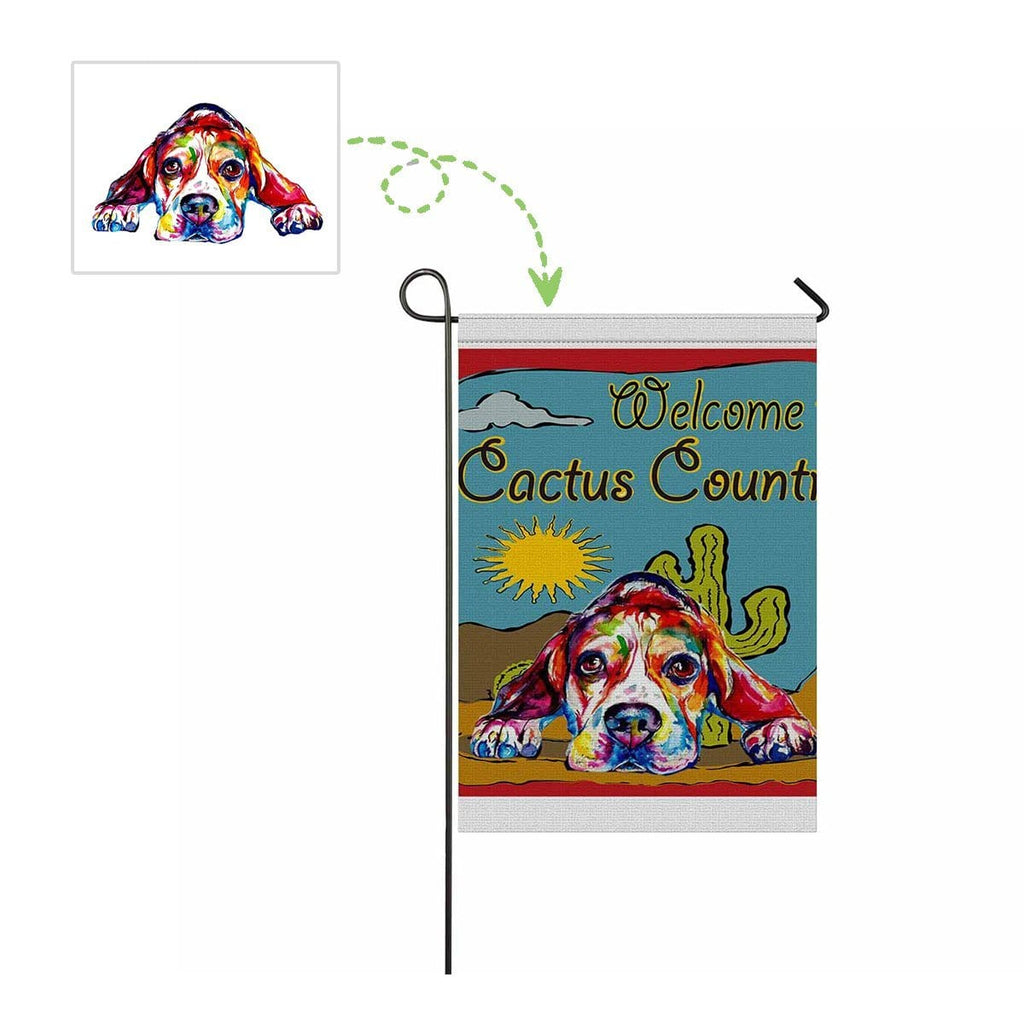 Custom Cute Dog Garden Flag