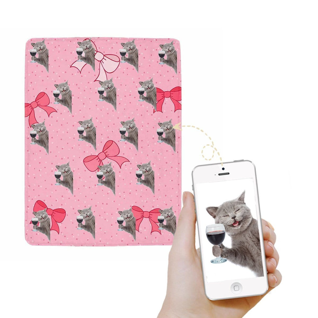 Custom Cat Ultra-Soft Micro Fleece Blanket