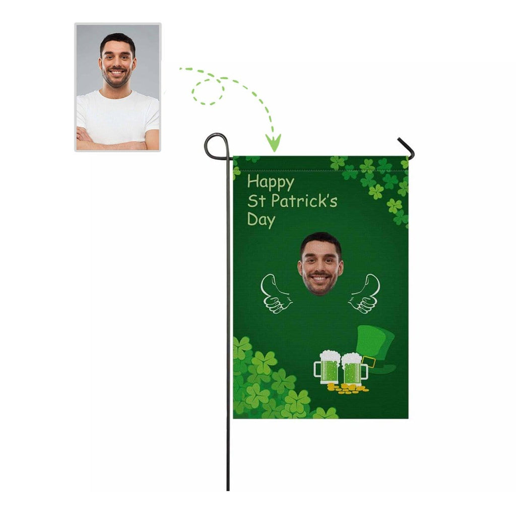 Custom Face St.Patrick Day Beer Garden Flag