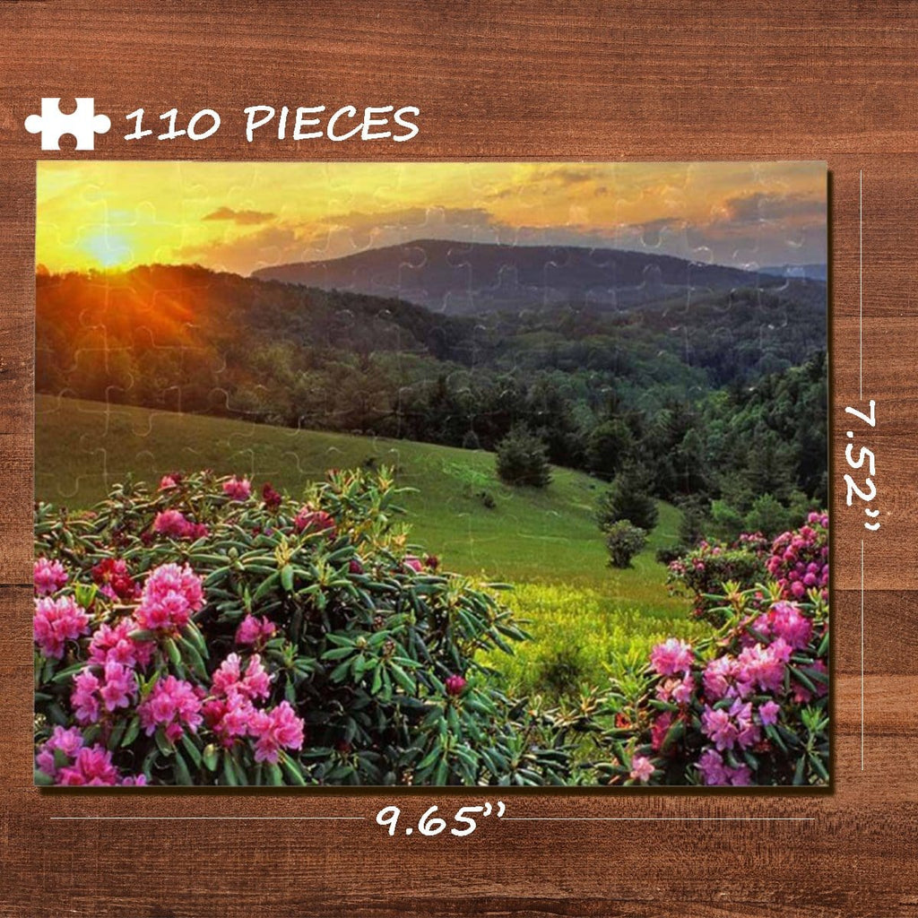 Field Rectangle Jigsaw Puzzle Best Indoor Gifts 110 Pieces