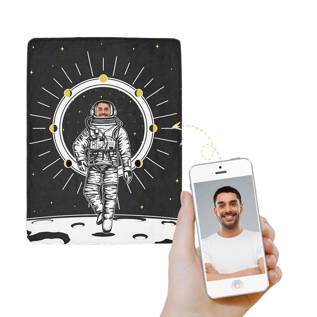 Custom Face Astronaut Ultra-Soft Micro Fleece Blanket