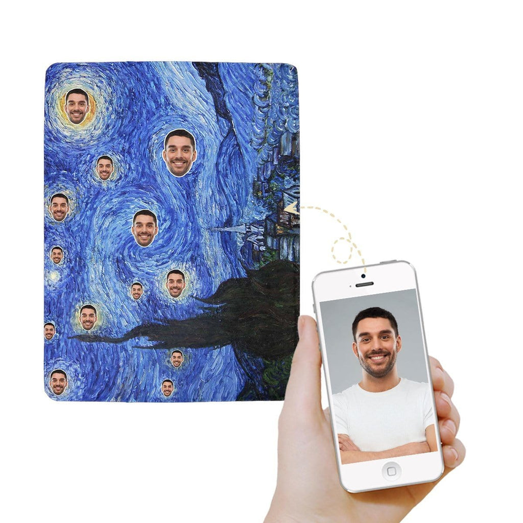 Custom Face Starry Night Ultra-Soft Micro Fleece Blanket