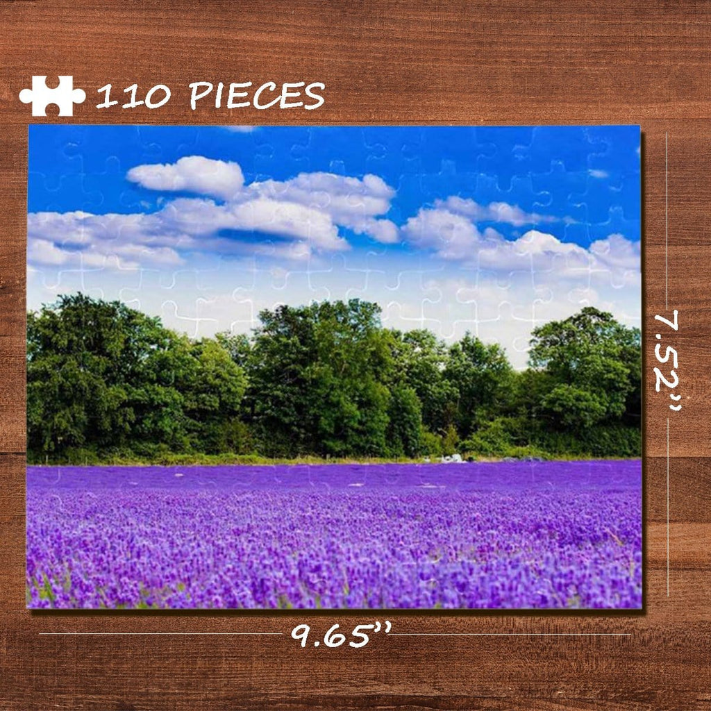 Flower Field Rectangle Jigsaw Puzzle Best Indoor Gifts 110 Pieces