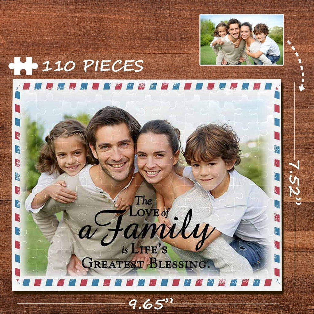 Custom Photo Family Envelope Rectangle Jigsaw Puzzle Best Indoor Gifts 110 Pieces