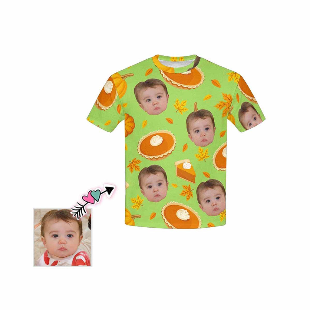 Custom Face Cake Kid's All Over Print T-shirt