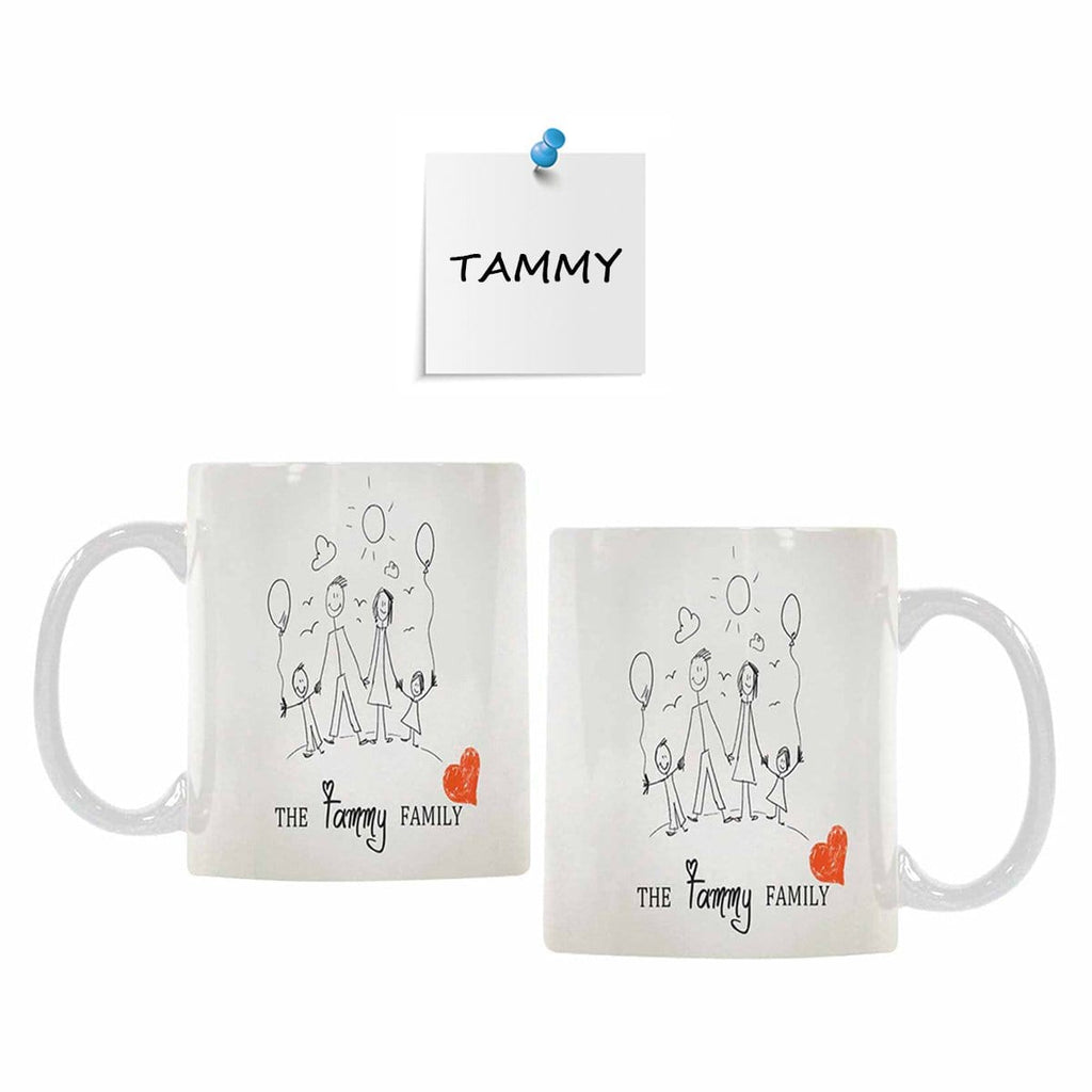Custom Family Name 03 Classical White Mug