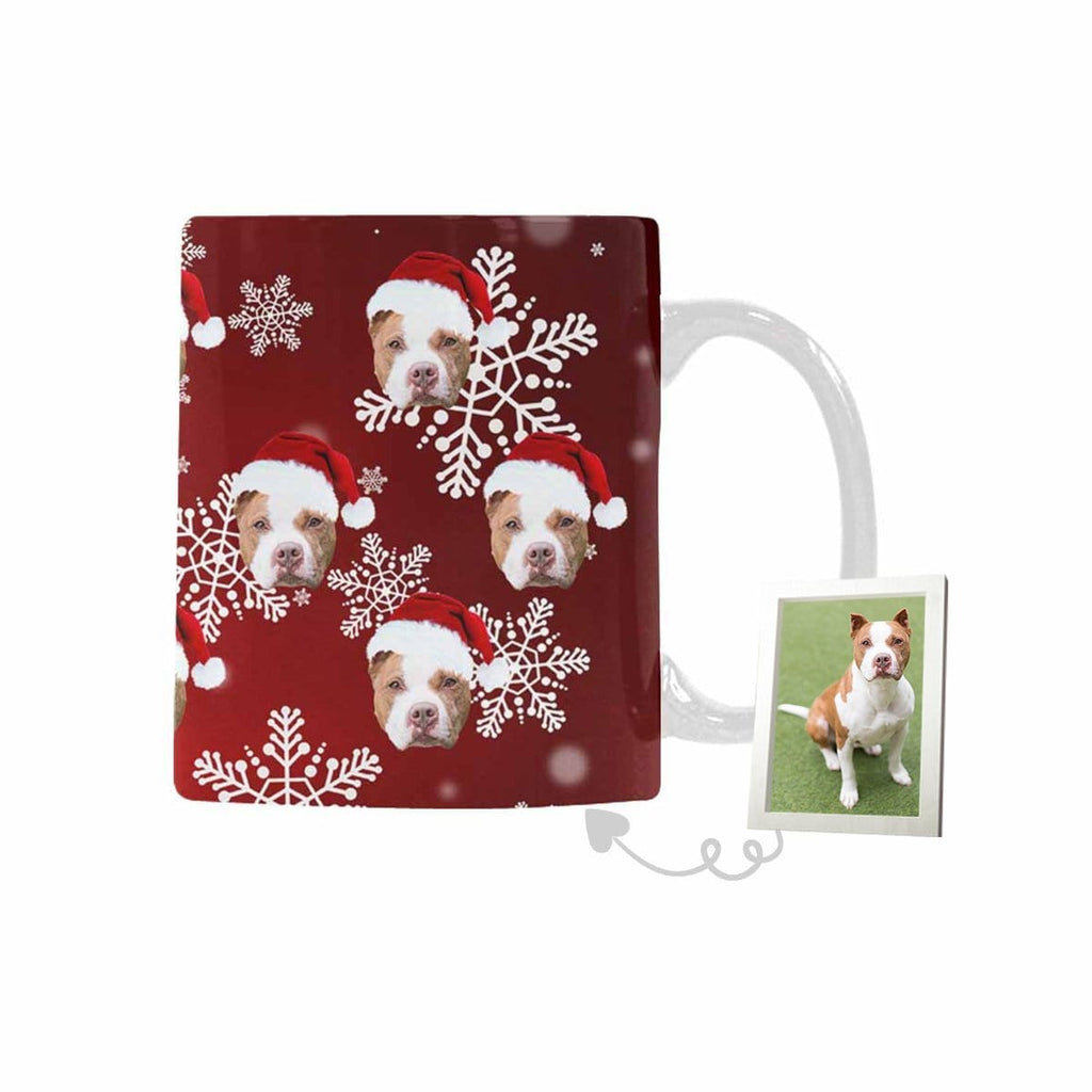 Custom Dog Christmas Snowflake Classical White Mug