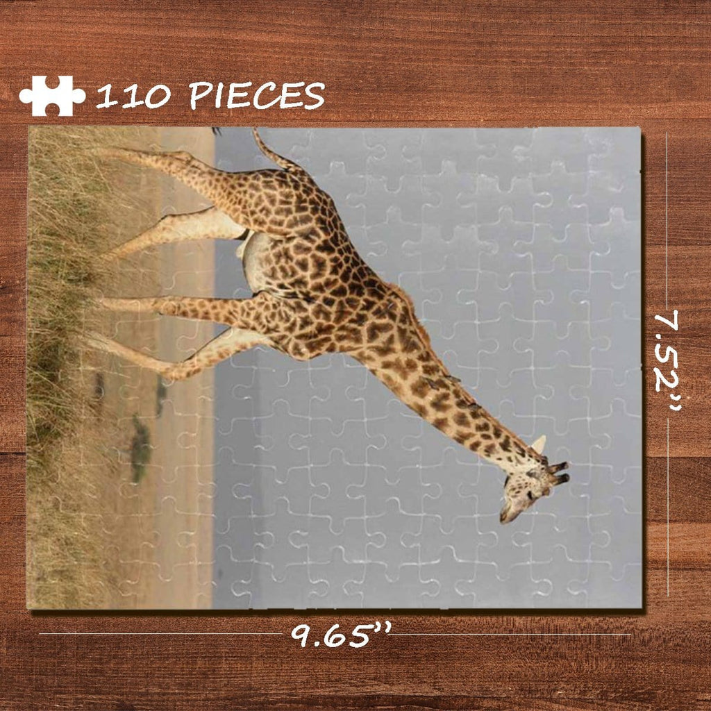Giraffe Rectangle Jigsaw Puzzle Best Indoor Gifts 110 Pieces