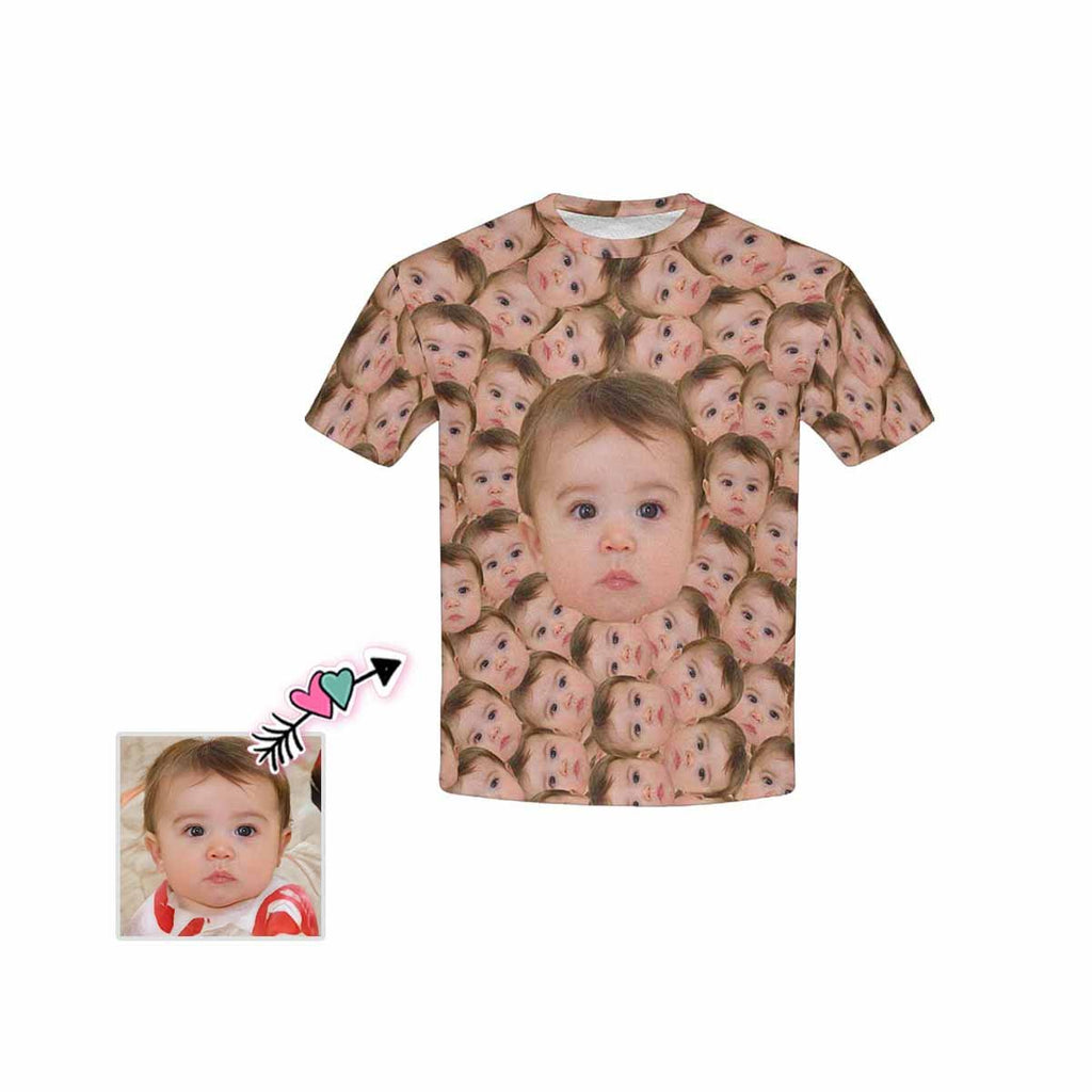 Custom Face Smash Kid's All Over Print T-shirt