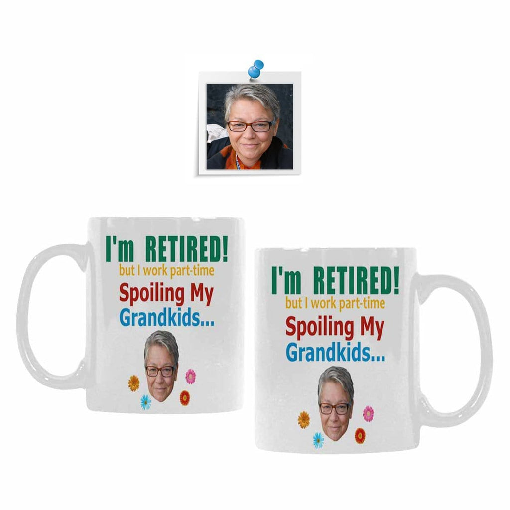 Custom Face Retirement Classical White Mug