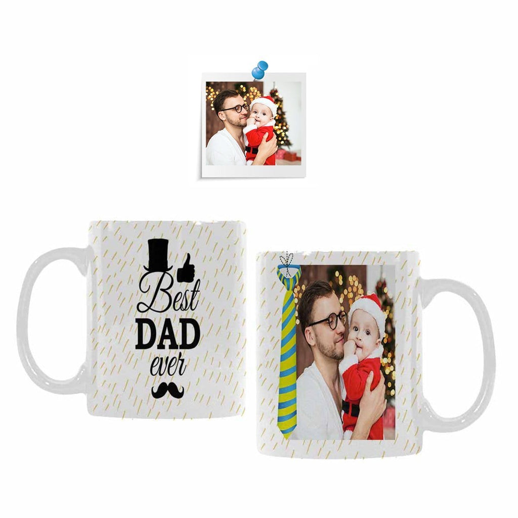 Custom Photo Best Dad Classical White Mug