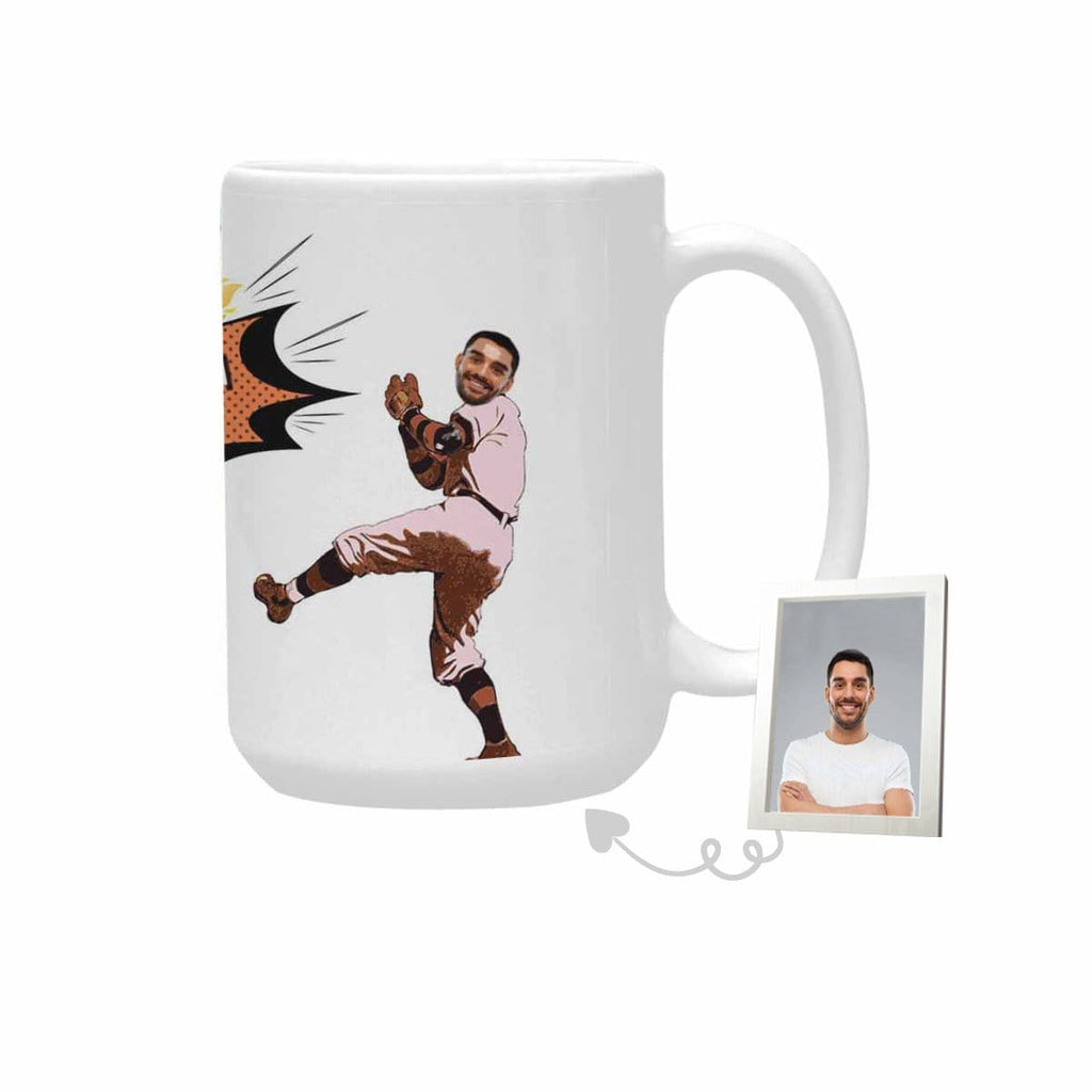 Custom Face Catch The Ball Plus-Size Mug
