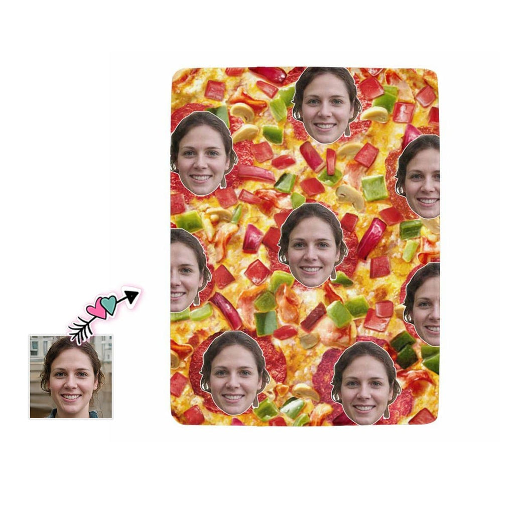 Custom Face Pizza Ultra-Soft Micro Fleece Blanket
