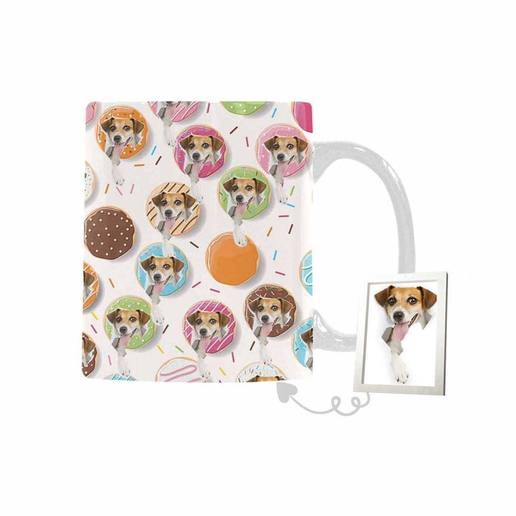 Custom Donuts Dog Face Classical White Mug