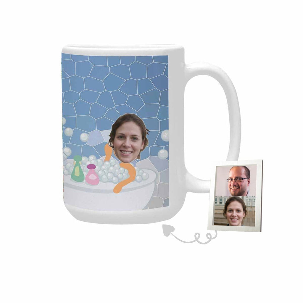 Custom Face Telescope Plus-Size Mug