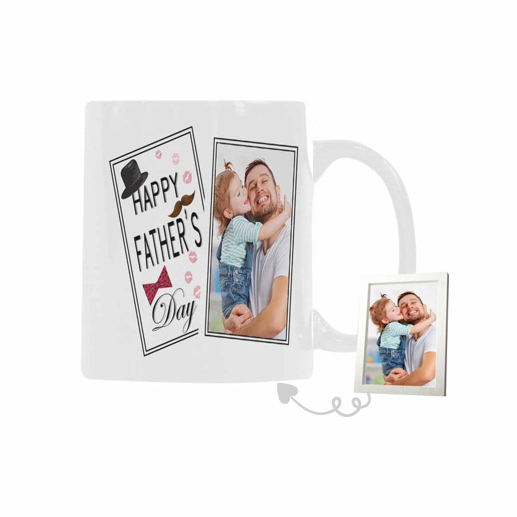 Custom Photo Father's Day Classical White Mug