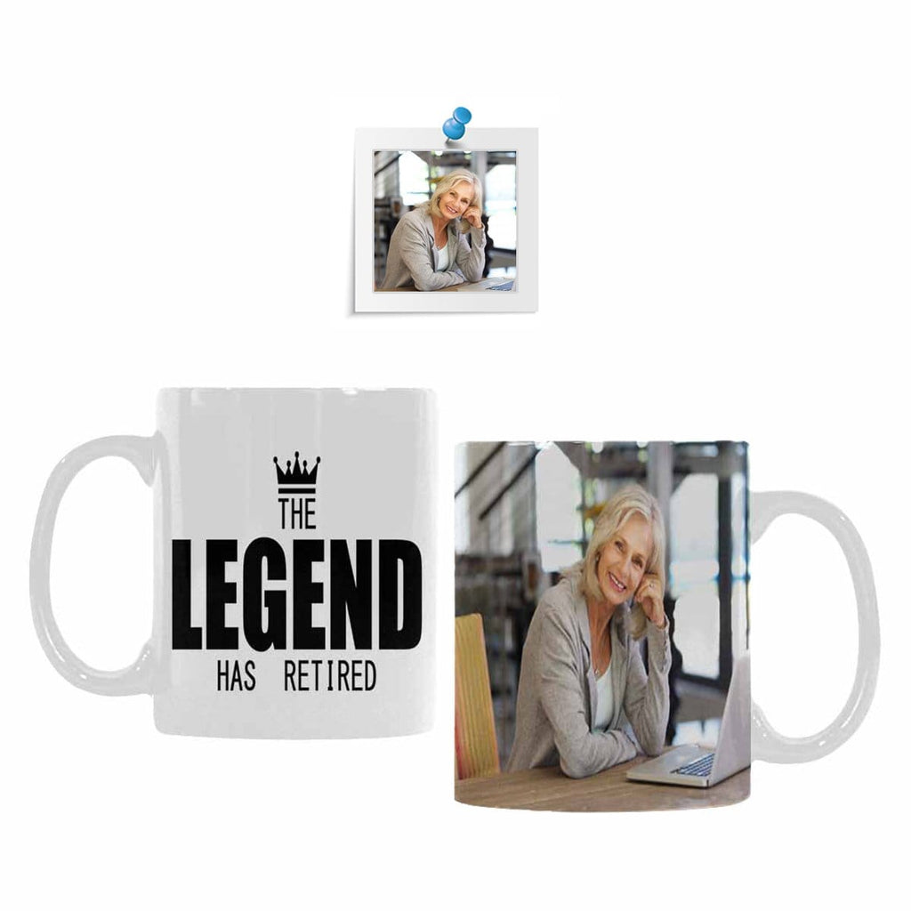 Custom Photo Legend Retirement Classical White Mug