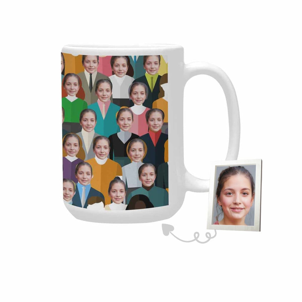 Custom Face Crowds Plus-Size Mug