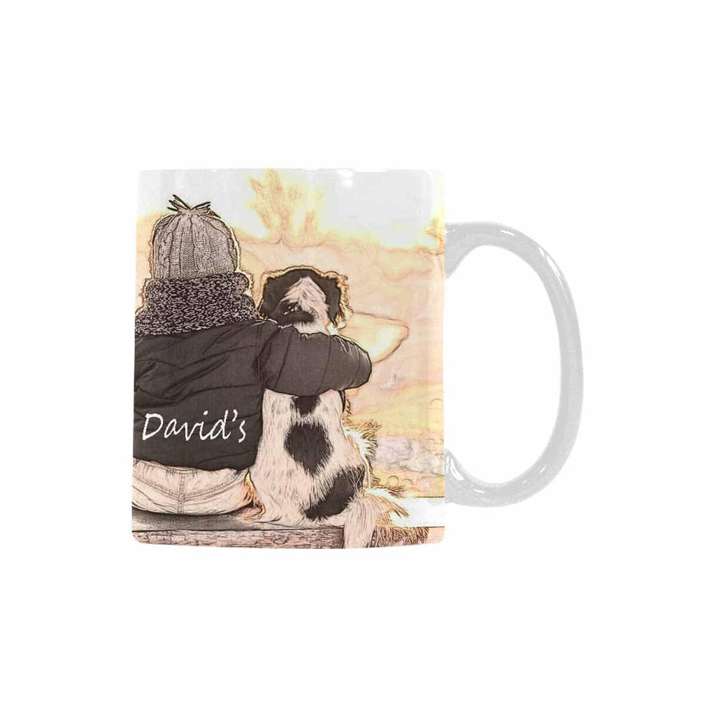 Custom Name David's Pet Dog Classical White Mug