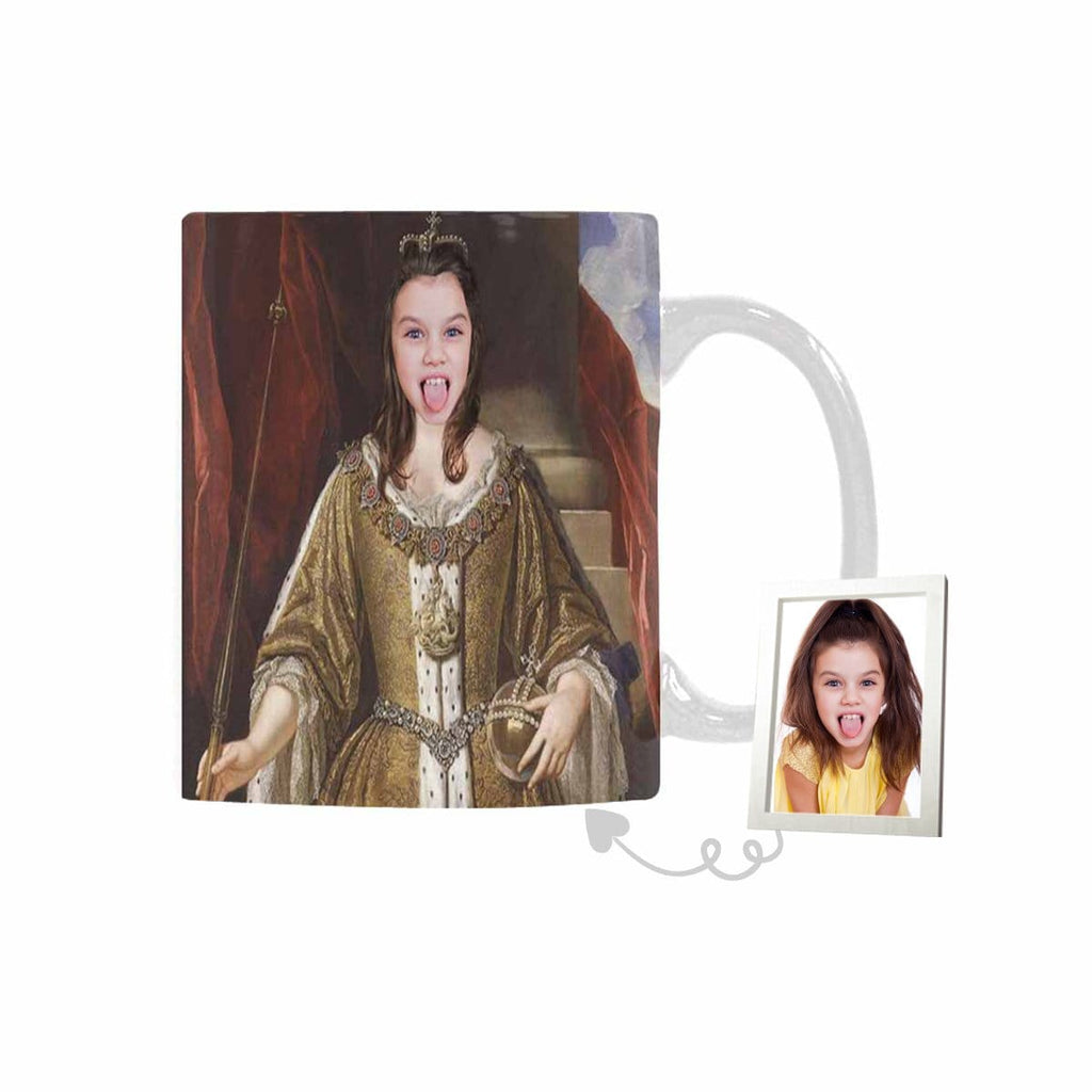 Custom Vintage Queen Face Classical White Mug