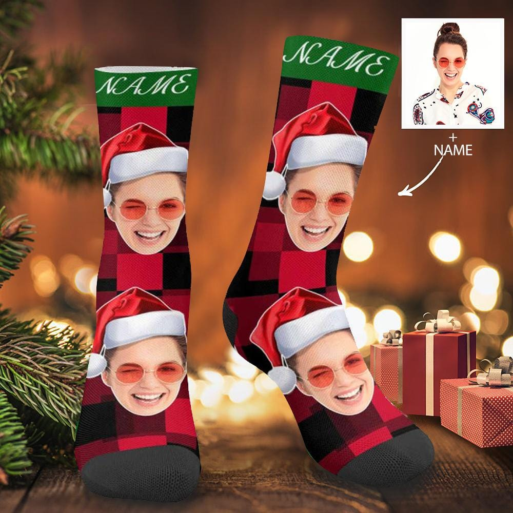 Custom Face&Name Christmas Socks