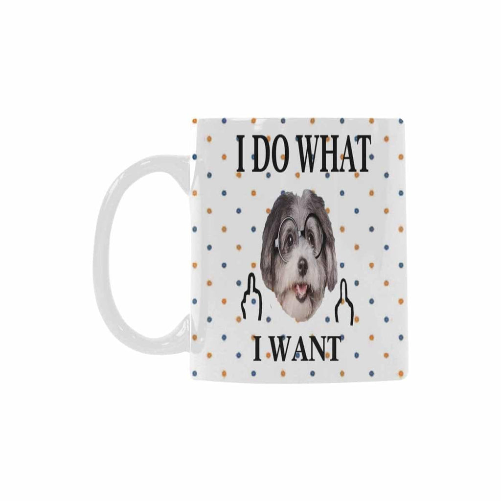 Custom Cute Dog Face Classical White Mug