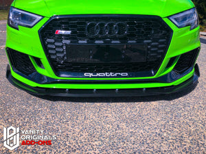 Audi RS 3 Adjustable Front Splitter