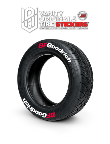 BFGoodrich ( 8x Rubber Decals, Adhesive & Instructions Included )