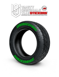 Bridgestone ( 8x Rubber Decals, Adhesive & Instructions Included )