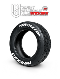 Dunlop Direzza ( 8x Rubber Decals, Adhesive & Instructions Included )