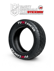 F-ck Cancer ( 8x Rubber Decals, Adhesive & Instructions Included )