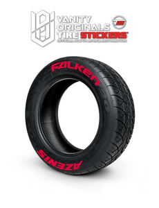 Falken Azenis ( 8x Rubber Decals, Adhesive & Instructions Included )