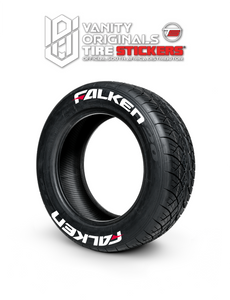 Falken ( 8x Rubber Decals, Adhesive & Instructions Included )