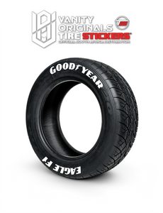 Goodyear Eagle F1 ( 8x Rubber Decals, Adhesive & Instructions Included )
