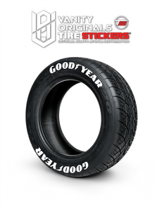 Goodyear ( 8x Rubber Decals, Adhesive & Instructions Included )