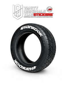 Hankook ( 8x Rubber Decals, Adhesive & Instructions Included )