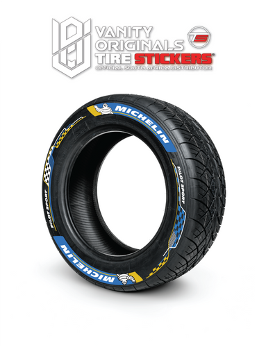 Michelin Formula E 8x decals ( 16x Rubber Decals, Adhesive & Instructions Included )