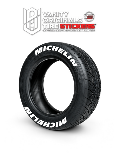 Michelin ( 8x Rubber Decals, Adhesive & Instructions Included )