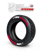 Load image into Gallery viewer, Tire Stickers ( 8x Rubber Decals, Adhesive & Instructions Included )