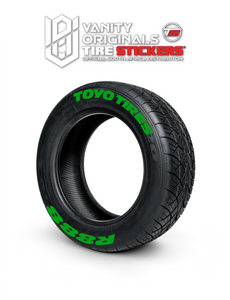 Toyo Tires R888 ( 8x Rubber Decals, Adhesive & Instructions Included )
