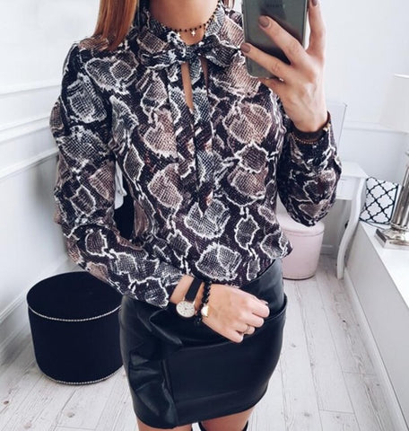Blusa animalprint serpiente