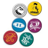 Plastic Golf Ball Markers - With Logo Printed