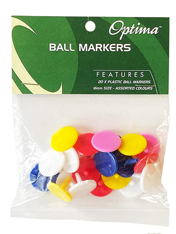 Optima Plastic Ball Markers 20 Pack