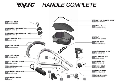 Rovic RV1C - Handle Complete V3