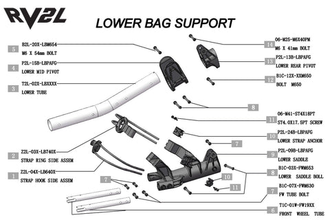 Rovic RV2L - Lower Bag Support V1