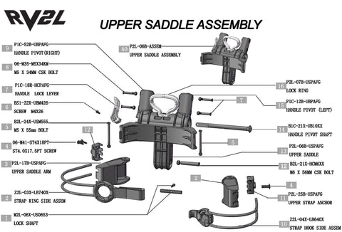 Rovic RV2L - Upper Saddle Assembly V1