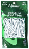 Optima Wood White Tees 100Pack
