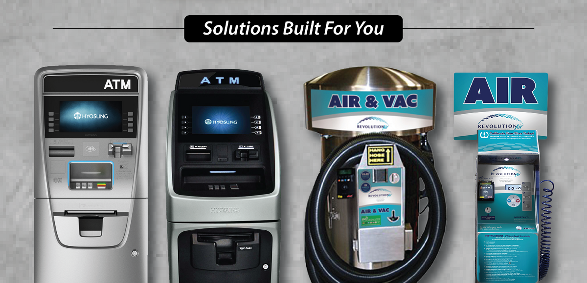 ATM Air Vacuum Machines Units Purchase Buy Rent Lease Cash Depot