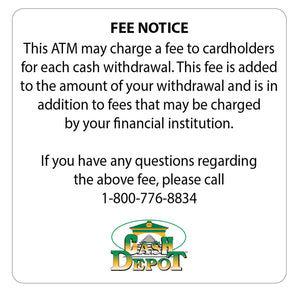 Surcharge fee notice